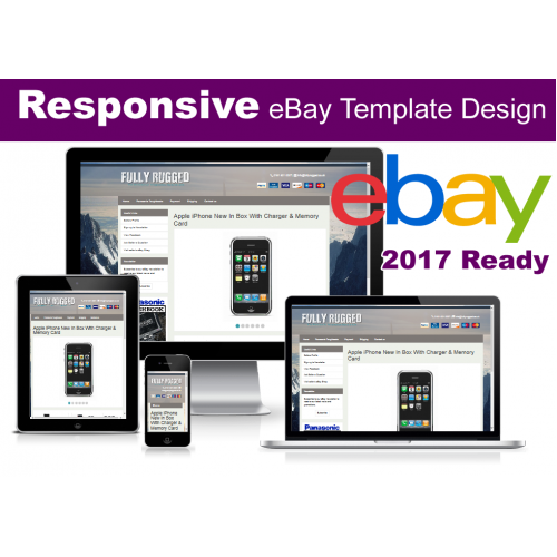 Responsive eBay Listing Template (no active content 2017 ready)