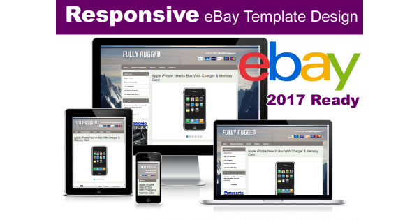 responsive ebay listing template no active content 2017 ready. Black Bedroom Furniture Sets. Home Design Ideas