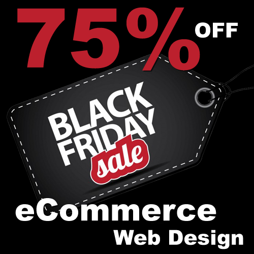 Black Friday Web design SALE 75% off Friday to Monday