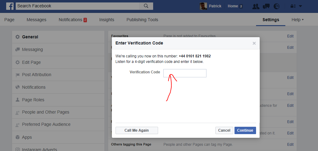 How to verify your Facebook Business Page