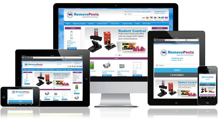 Remove Pests Fully Responsive eCommerce Web Design