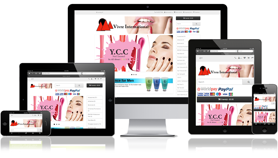 Vivre International Fully Responsive eCommerce Web Design